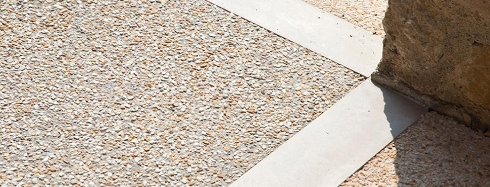 Lavorazioni: Pavimenti in sasso lavato
